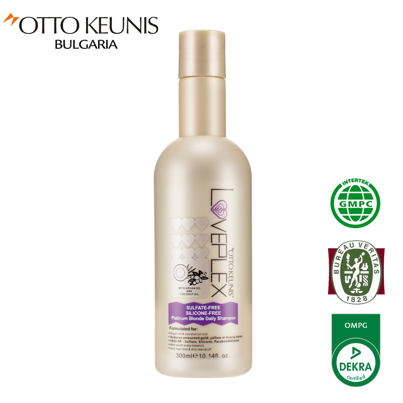 LOVEPLEX  Platinum Blonde шампоан за ежедневна употреба без сулфат и силикон 300 мл.