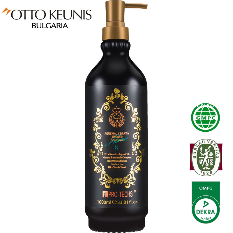 PRO-TECHS Keratin 0+  Renewal Keratin Smooth шампоан 1000 мл. № 3